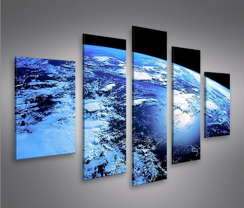 Blue Planet MF Cuadro sobre lienzo Cuadros modernos y listos para colgar. Cuadro Impresión fotográfica artística Obra de Arte